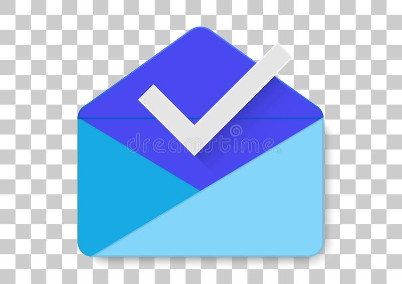 Inbox by gmail apk icon. Vector design of commercial brand logo trademark