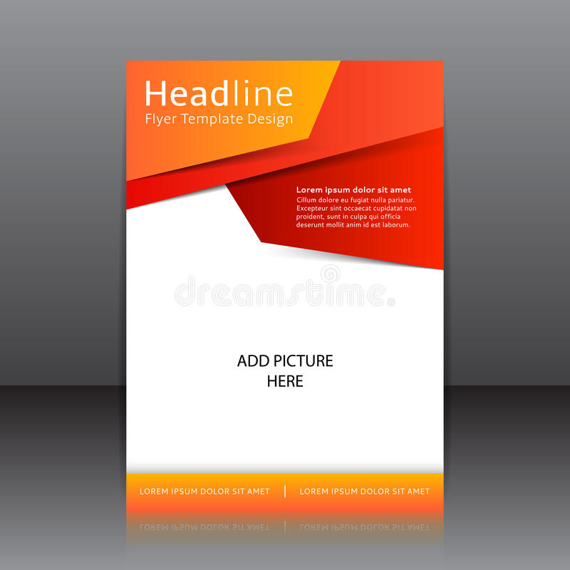 Vector Design Des Orange Fliegers, Abdeckung, Broschüre ...