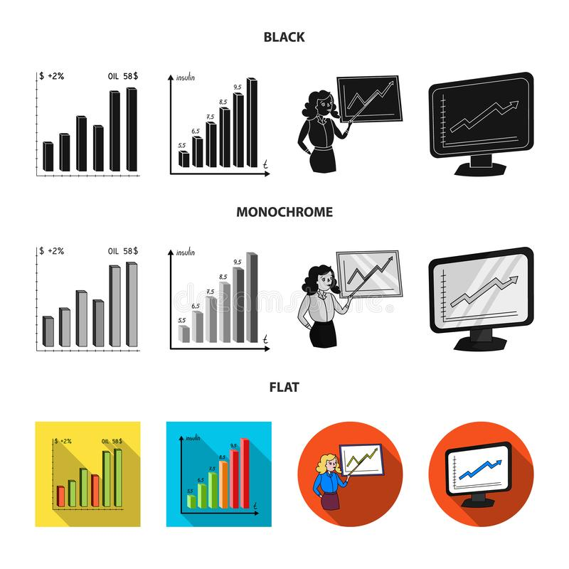 Isolated object of diagram and statistic icon. Collection of diagram and business stock vector illustration. Vector design of diagram and statistic symbol. Set stock illustration