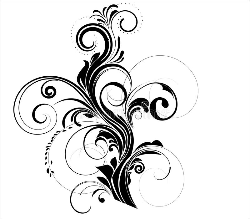 Vector design element. Floral design element - vector illustration royalty free illustration