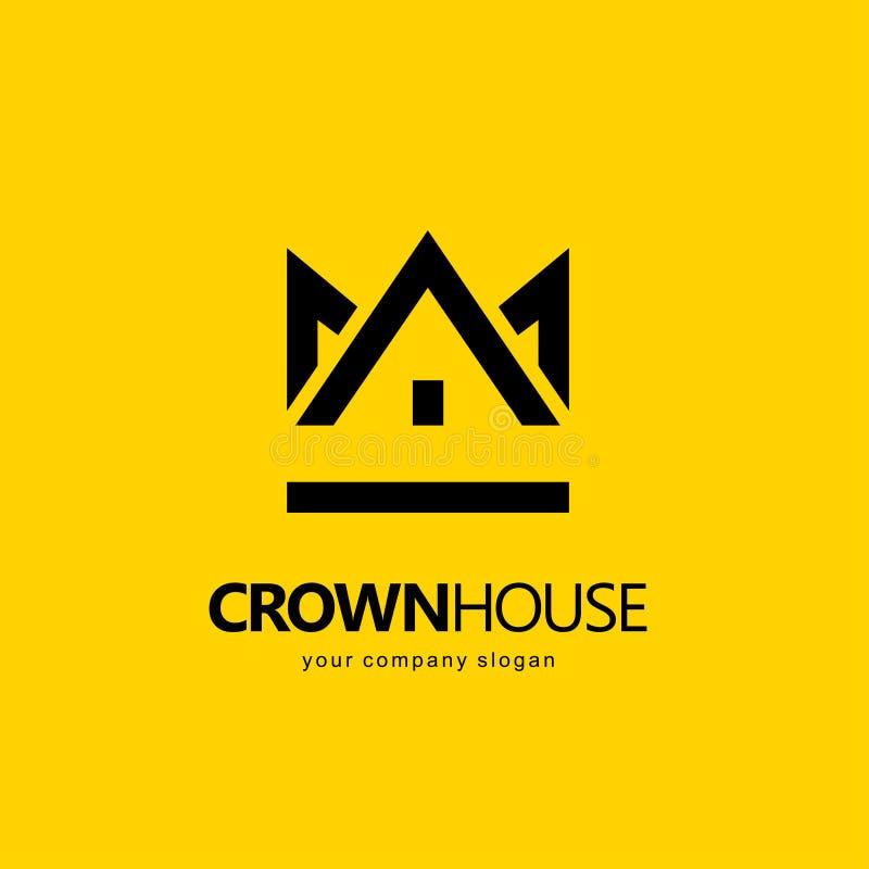 Vector design element. Real estate. House icon. Crown House logo vector illustration