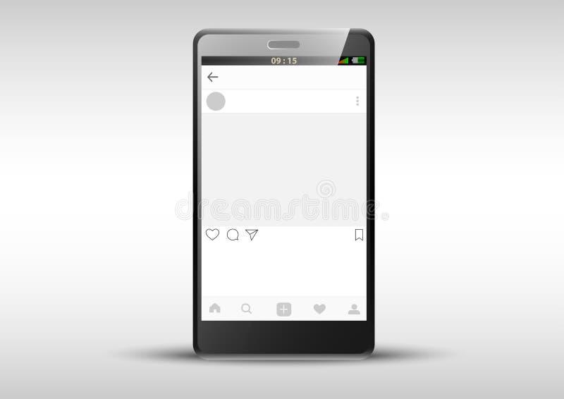 Mobile Applications Frame Template Instagram Inside Phone Stock - Instagram frame template