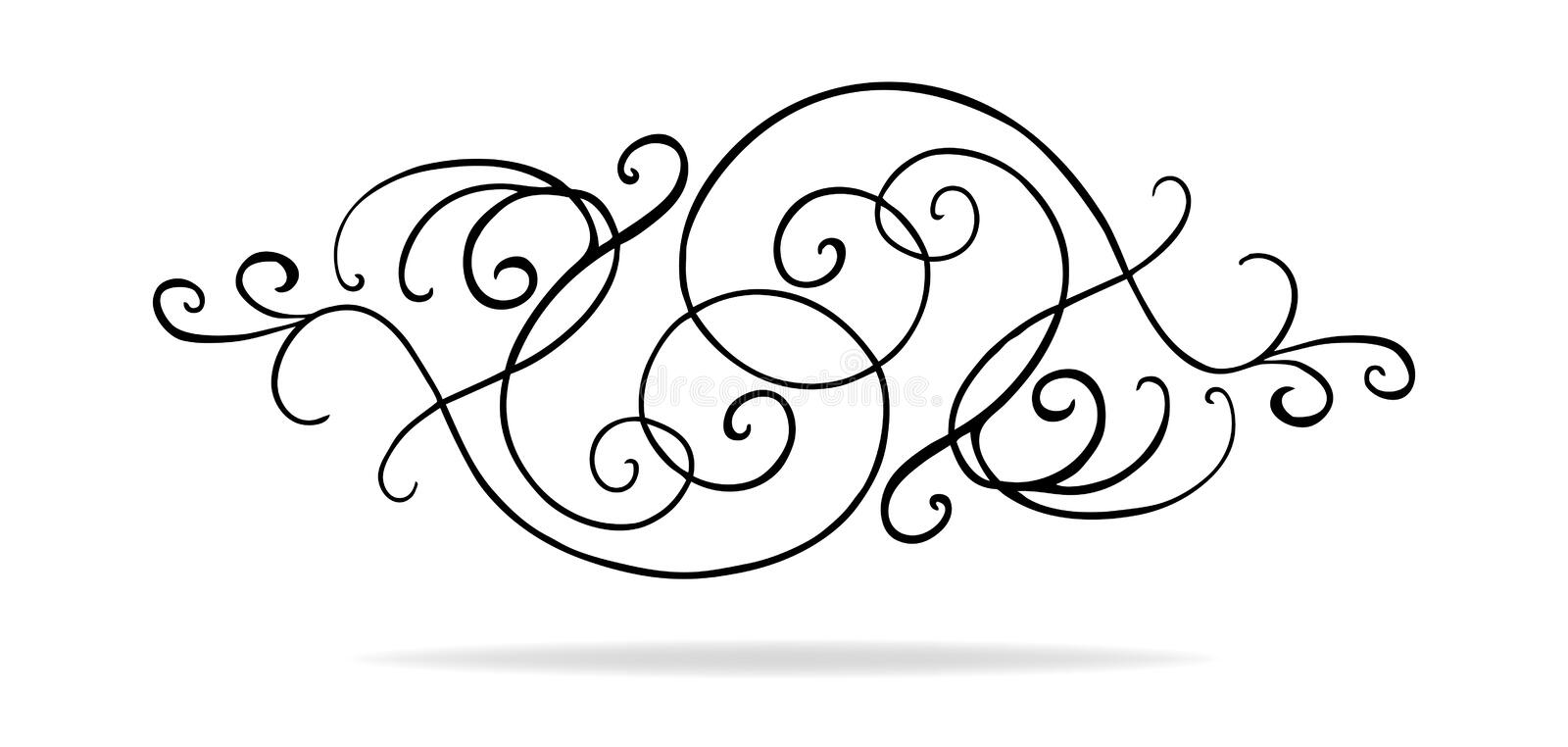 Download Vector Design Elements With Fancy Curls And Swirls Stock