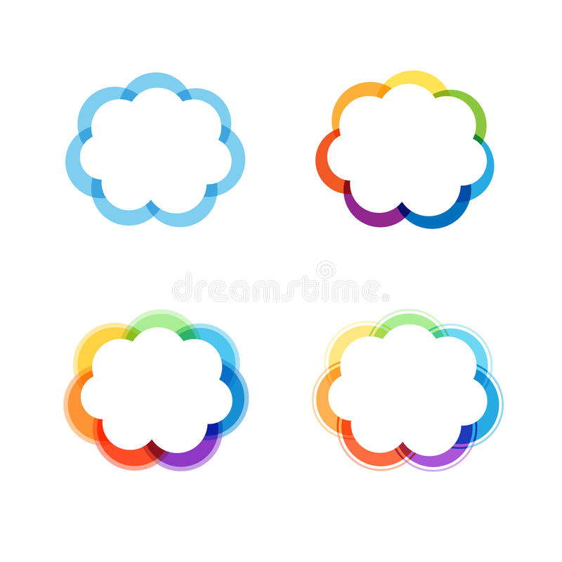 Vector Design Elements Or Frame With Blue And Rainbows Colors. Stock ...