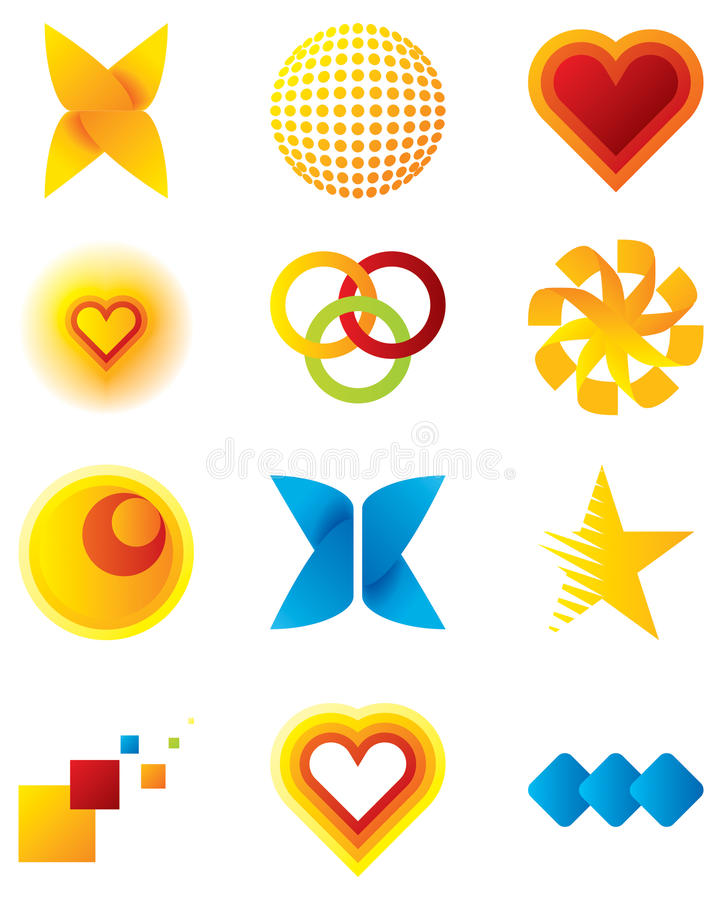 Vector design elements and logos. For your business artwork vector illustration
