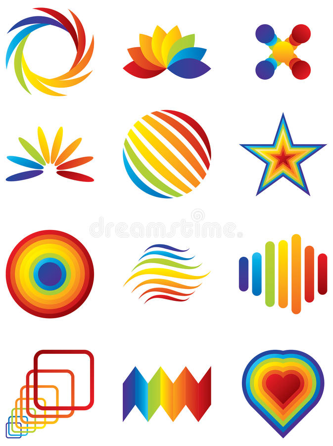 Vector Design Elements And Logos Royalty Free Stock Photography