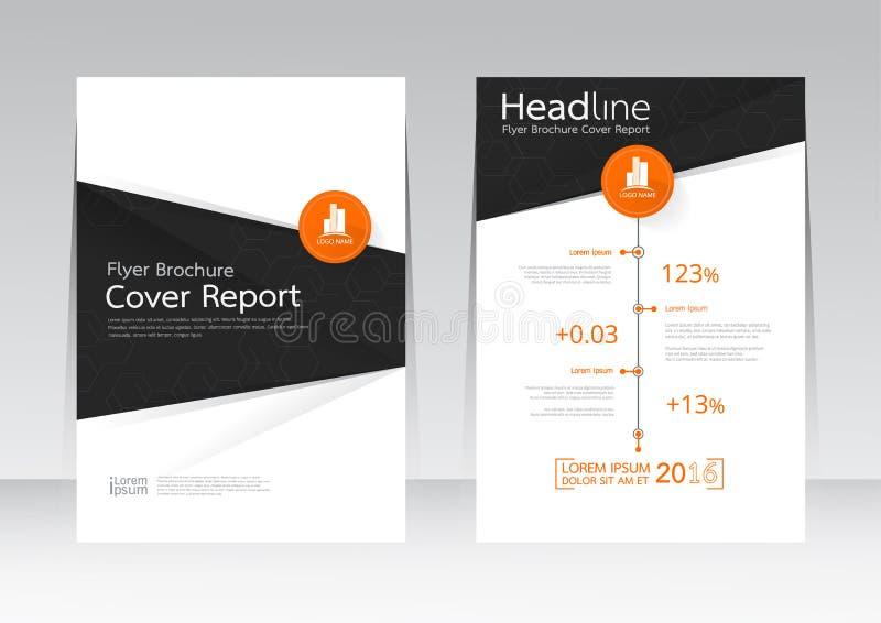 Vector Design für Abdeckungs-Berichts-Broschüren-Flieger-Plakat in der Größe A4 stock abbildung