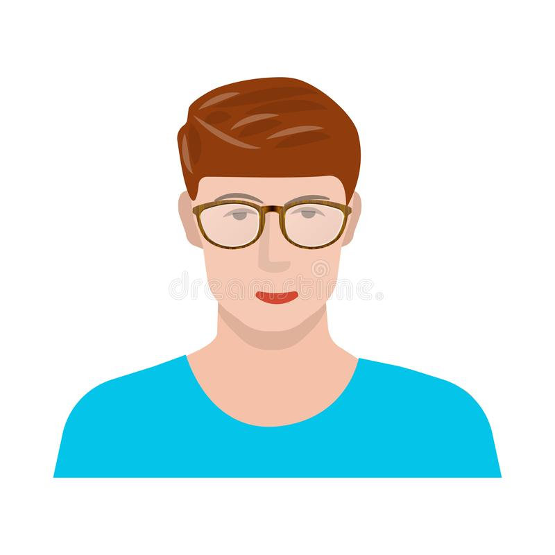 Vector design of face and male symbol. Set of face and young stock vector illustration. vector illustration