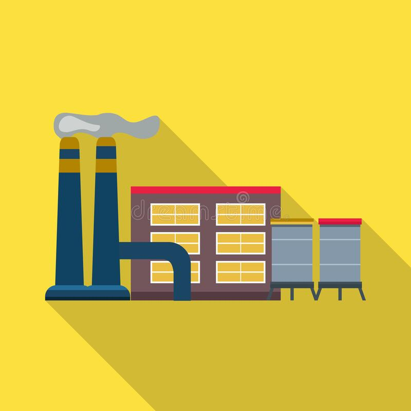 Vector design of factory and building icon. Set of factory and station stock vector illustration. Vector illustration of factory and building symbol. Collection vector illustration