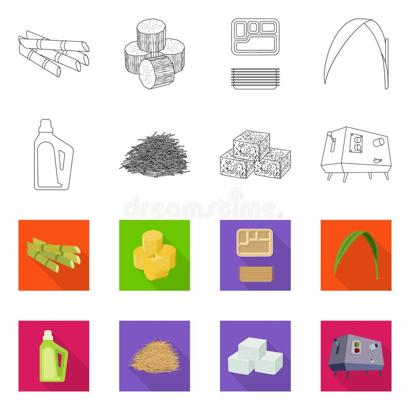 Vector design of farm and agriculture  icon. Set of farm and technology vector icon for stock. Vector illustration of farm and agriculture  symbol. Collection stock illustration