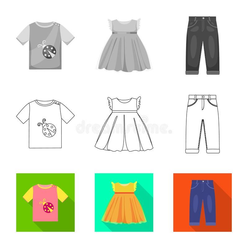 Vector design of fashion and garment logo. Set of fashion and cotton stock vector illustration. Vector illustration of fashion and garment icon. Collection of vector illustration