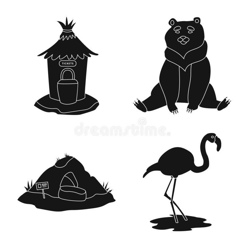 Isolated object of fauna and entertainment sign. Set of fauna and park vector icon for stock. vector illustration