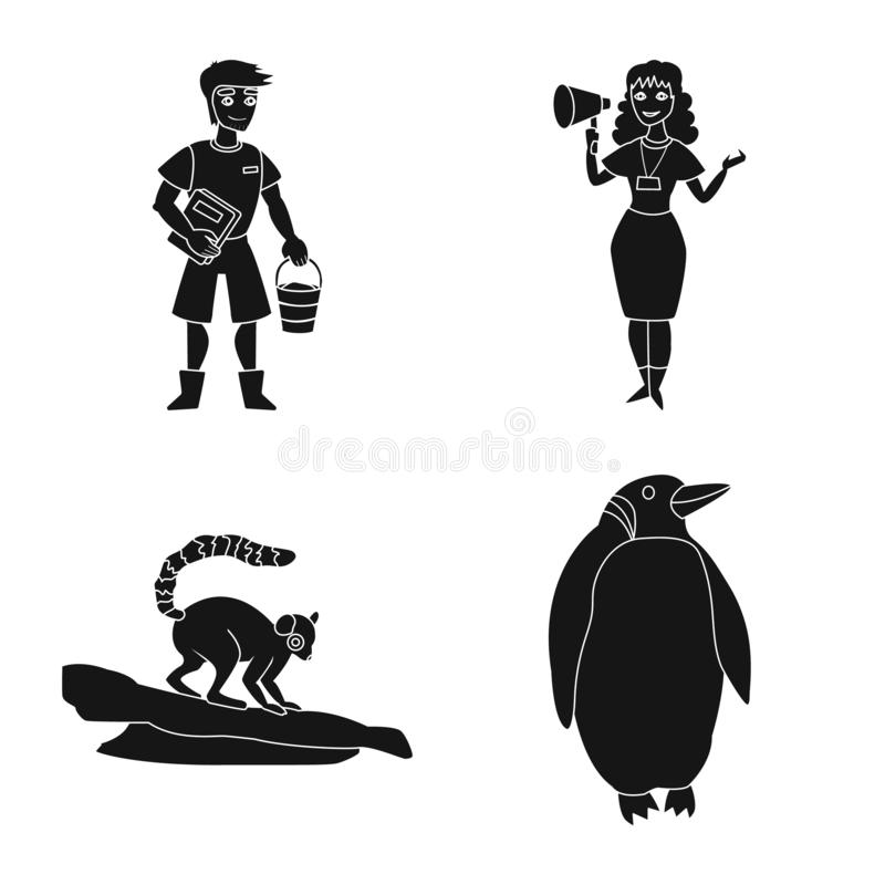 Isolated object of fauna and entertainment icon. Collection of fauna and park stock symbol for web. vector illustration