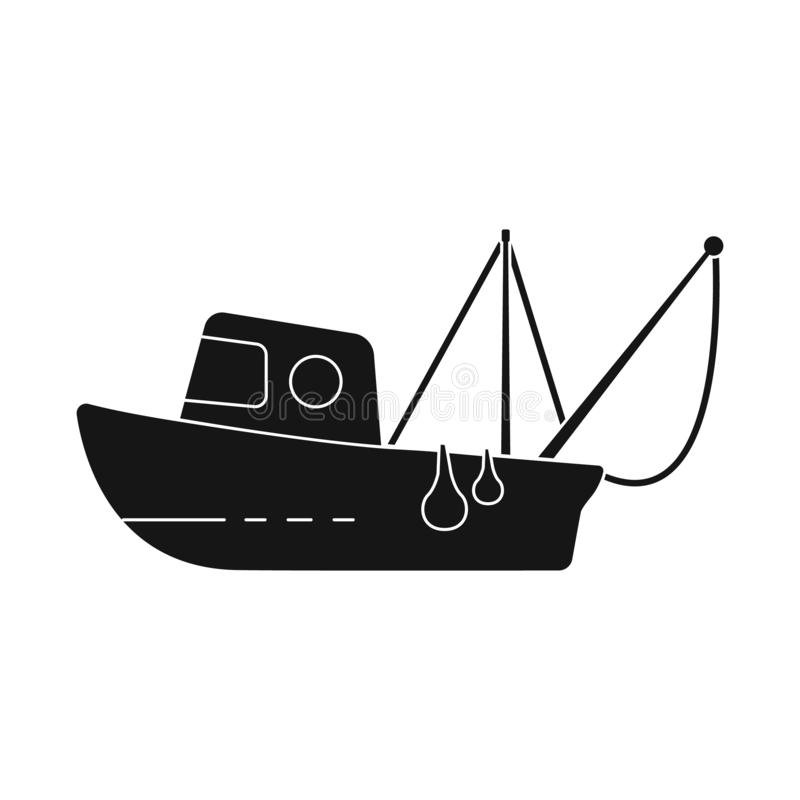 Isolated object of fishery and trawler symbol. Set of fishery and naval stock symbol for web. Vector design of fishery and trawler sign. Collection of fishery stock illustration