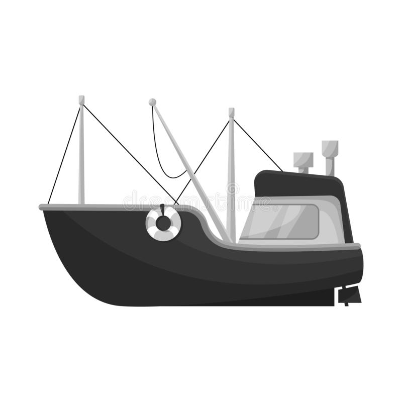 Isolated object of fishing and trawler symbol. Set of fishing and fishery stock symbol for web. Vector design of fishing and trawler sign. Collection of fishing vector illustration