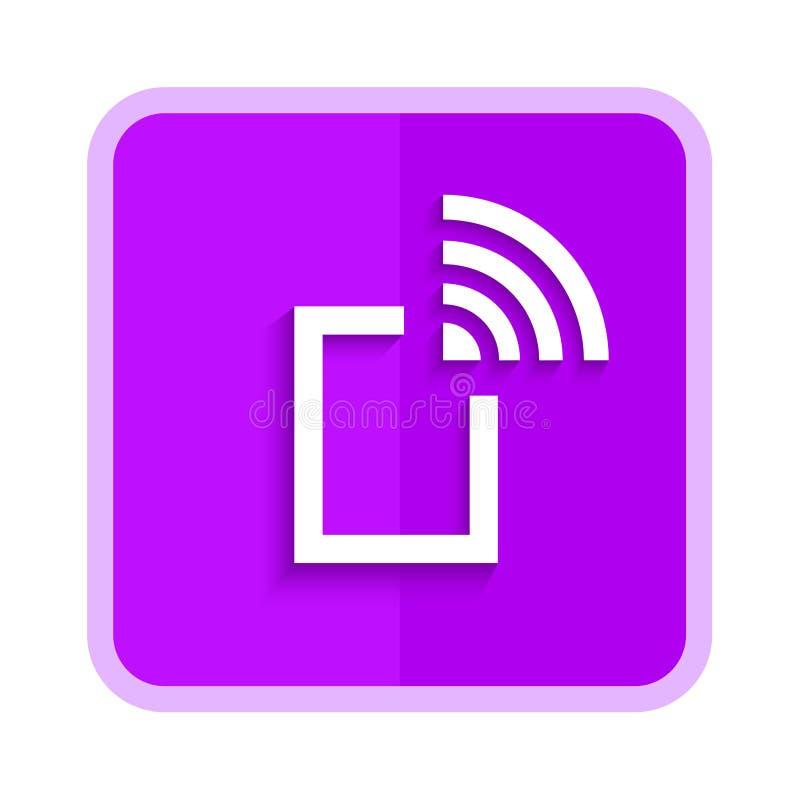Hotspot purple button vector illustration