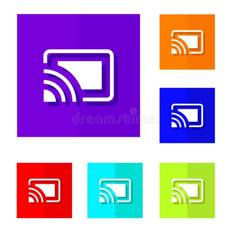 chromecast button royalty free illustration