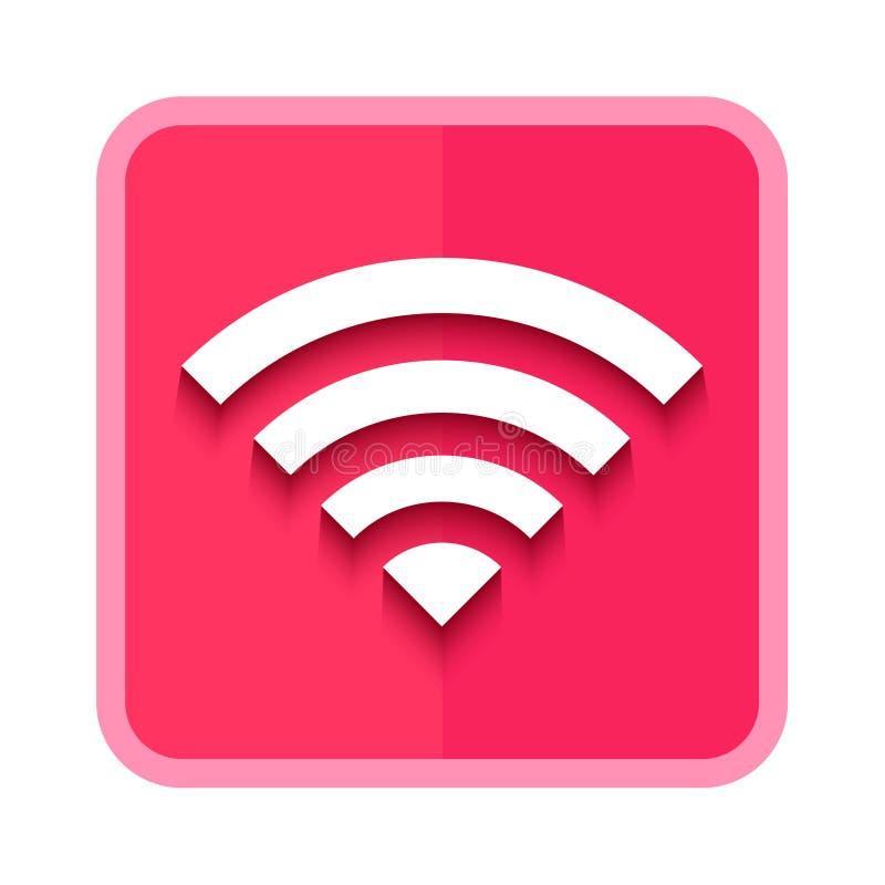 wireless pink button stock illustration