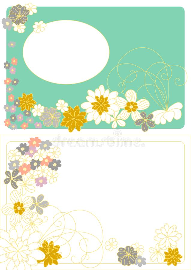 Vector design with flowers