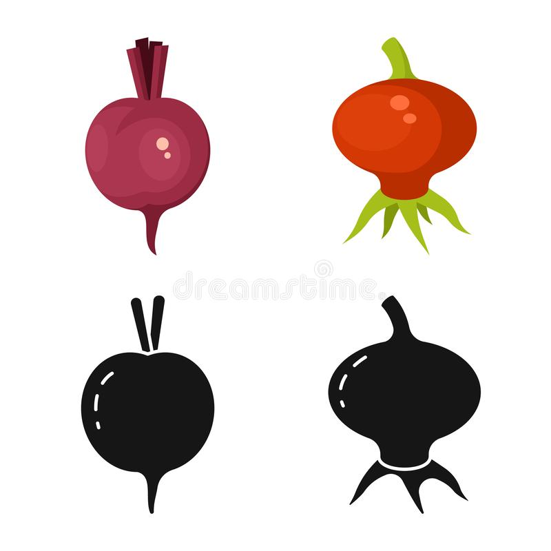 Isolated object of fresh and red icon. Collection of fresh and organic stock symbol for web. Vector design of fresh and red symbol. Set of fresh and organic vector illustration