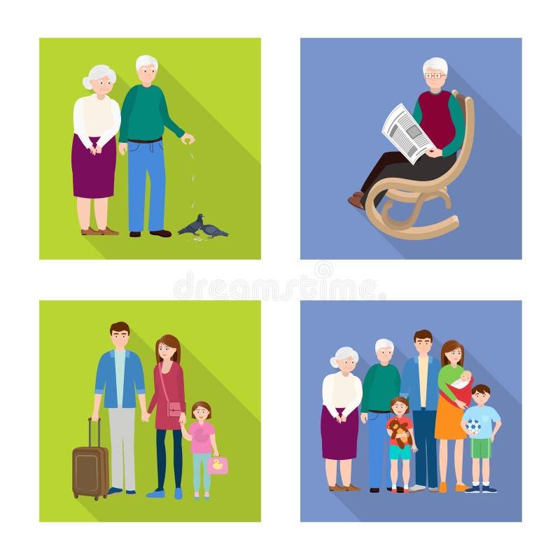 Vector design of generation and happy symbol. Collection of generation and avatar stock symbol for web. Vector illustration of generation and happy sign. Set of stock illustration