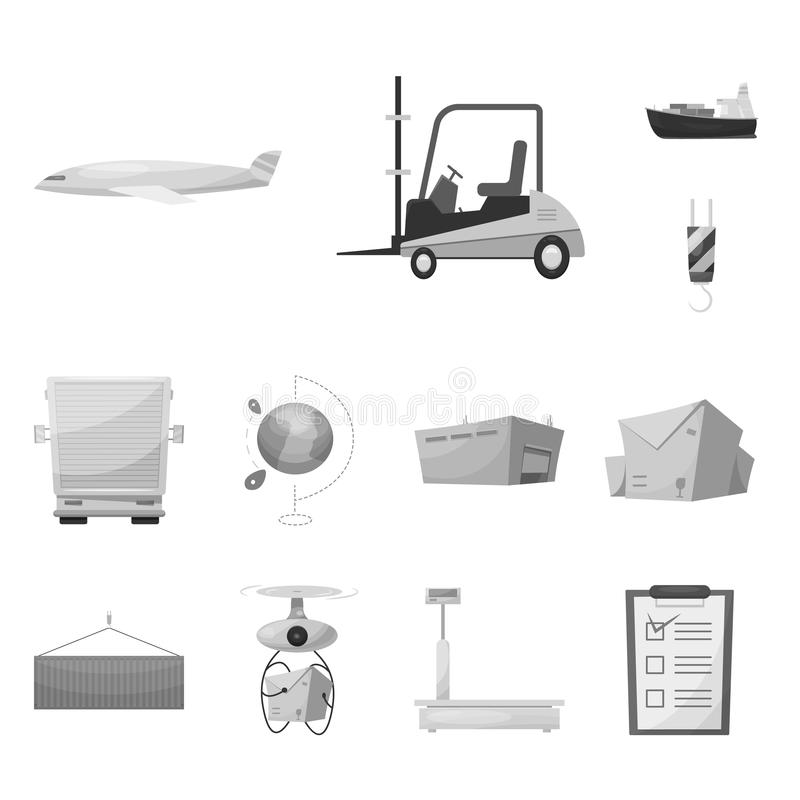 Vector design of goods and cargo icon. Collection of goods and warehouse stock vector illustration. Vector illustration of goods and cargo symbol. Set of goods royalty free illustration