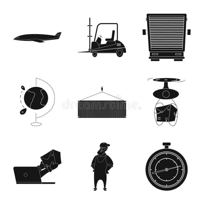 Isolated object of goods and cargo logo. Collection of goods and warehouse vector icon for stock. stock illustration