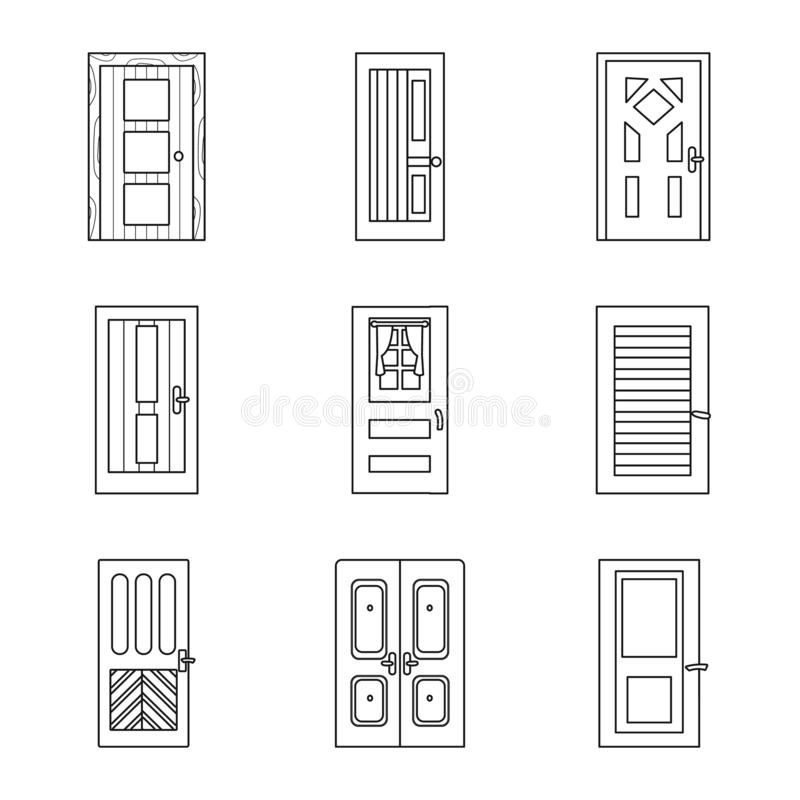 Isolated object of home and design icon. Set of home and office stock vector illustration. stock illustration