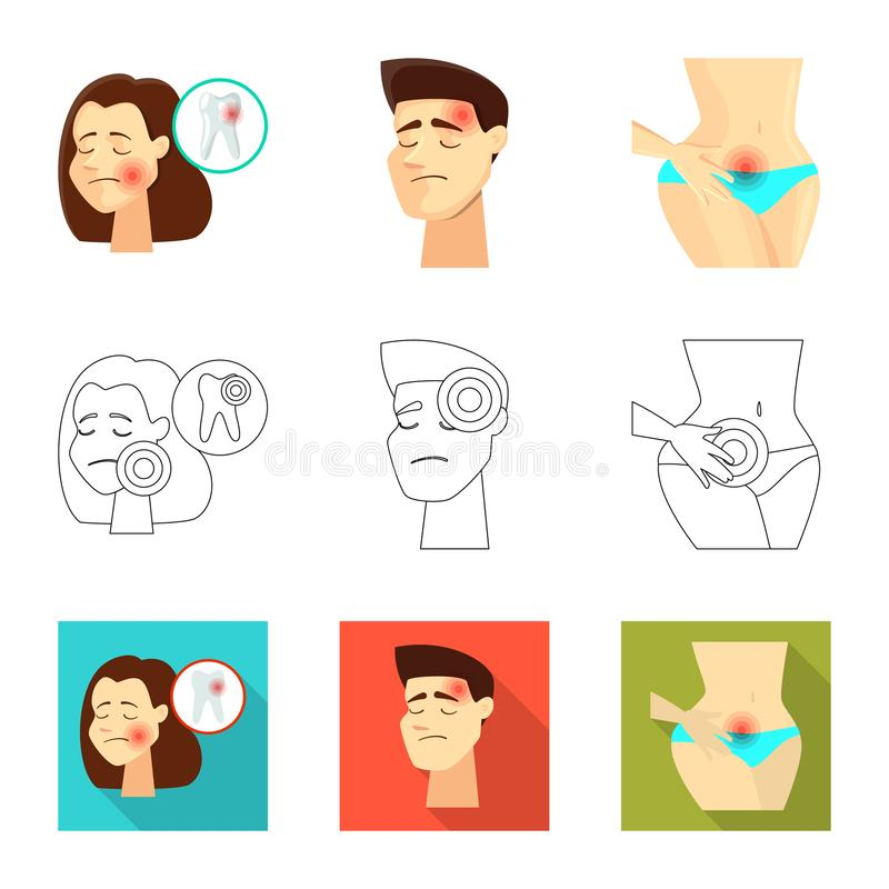 Isolated object of hospital and rendering symbol. Collection of hospital and help vector icon for stock. Vector design of hospital and rendering sign. Set of vector illustration