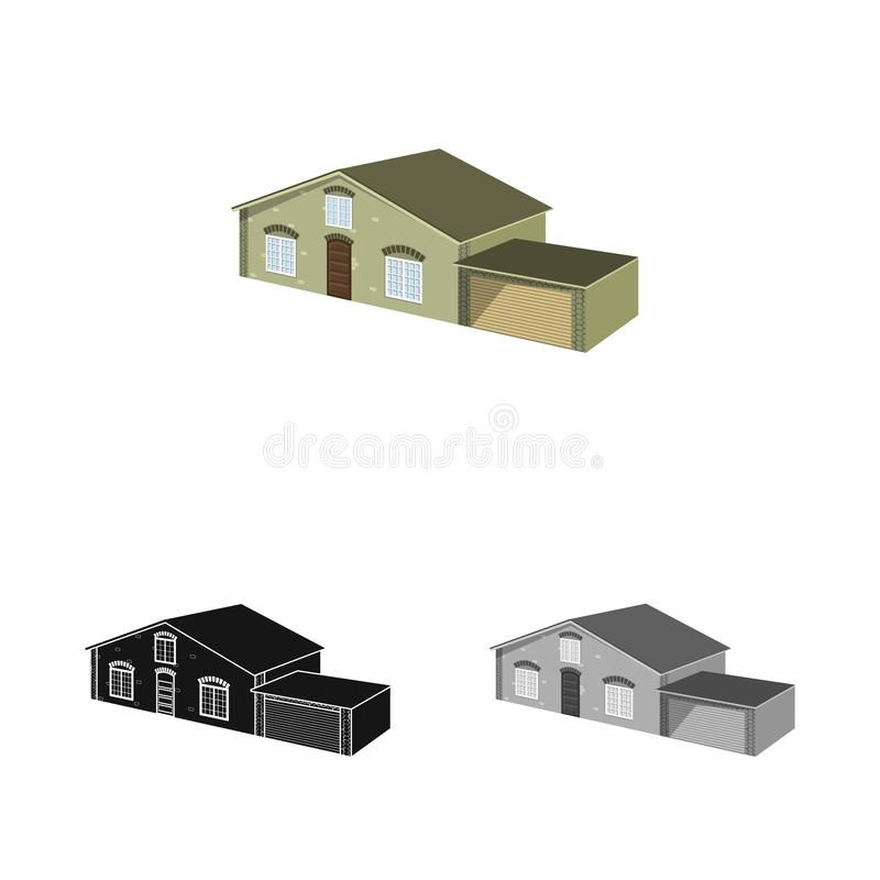 Vector design of house and villa sign. Set of house and dwelling stock symbol for web. Vector illustration of house and villa logo. Collection of house and stock illustration