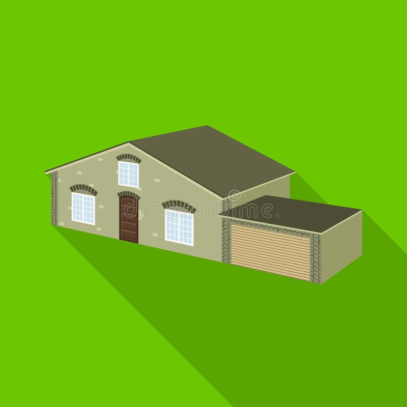 Isolated object of house and villa icon. Collection of house and dwelling stock symbol for web. Vector design of house and villa symbol. Set of house and vector illustration