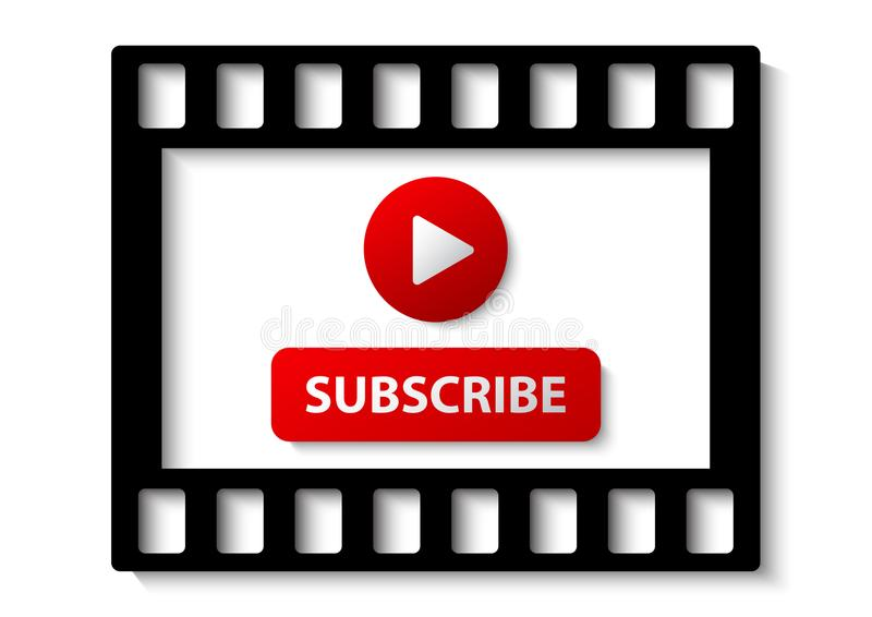 youtube subscribe channel vector illustration