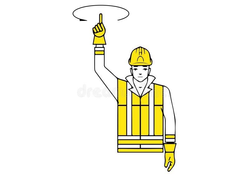 raise up gesture stock illustration