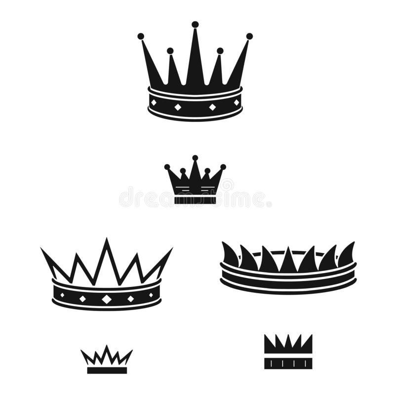 Isolated object of king and majestic logo. Collection of king and gold stock vector illustration. Vector design of king and majestic icon. Set of king and gold stock illustration