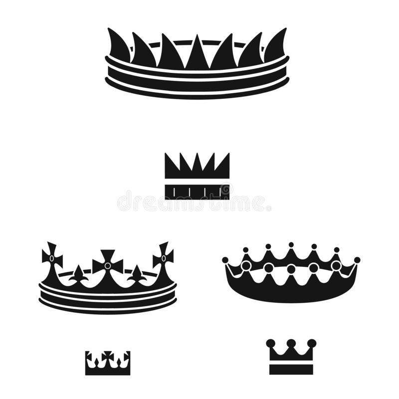 Isolated object of king and majestic sign. Set of king and gold stock vector illustration. Vector design of king and majestic logo. Collection of king and gold stock illustration