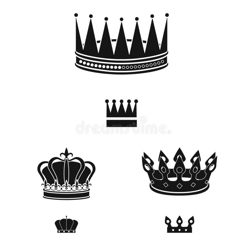 Isolated object of king and majestic symbol. Set of king and gold stock symbol for web. Vector design of king and majestic sign. Collection of king and gold vector illustration