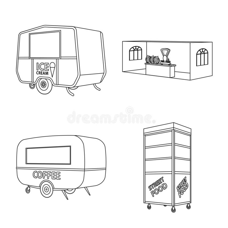 Isolated object of market and small icon. Collection of market and food vector icon for stock. Vector design of market and small symbol. Set of market and food vector illustration