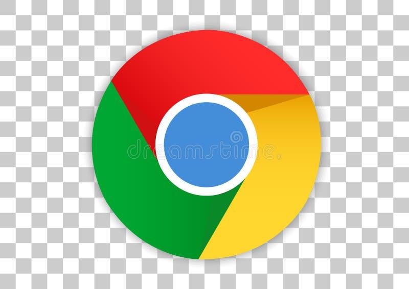 Google chrome apk icon. Vector design of mobile app brand with trademark logo