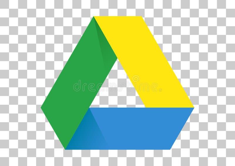 Google drive apk icon. Vector design of mobile app brand with trademark logo