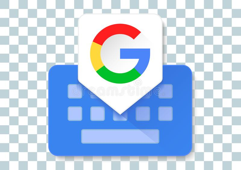 Google keyboard apk icon. Vector design of mobile app brand with trademark logo