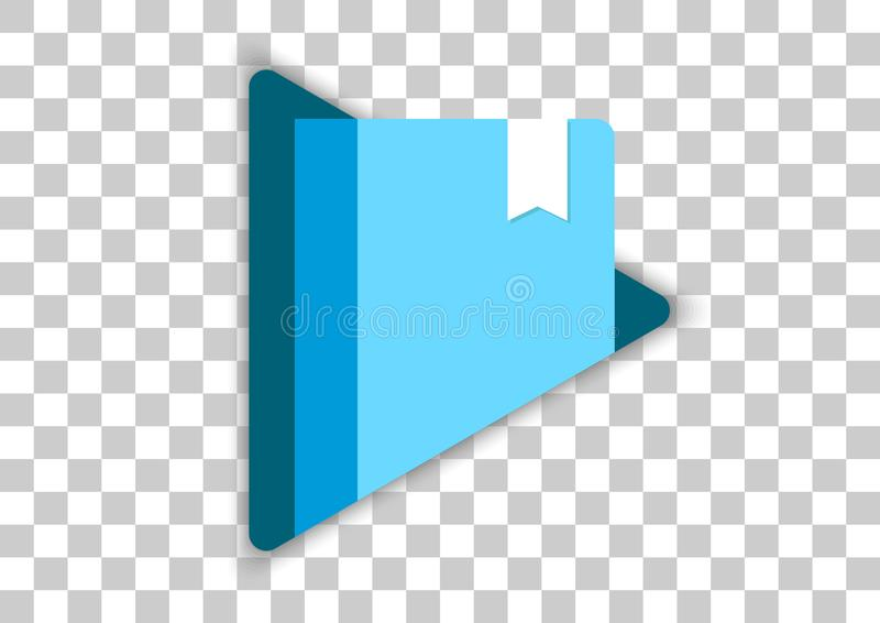 Google play books apk icon. Vector design of mobile app brand with trademark logo