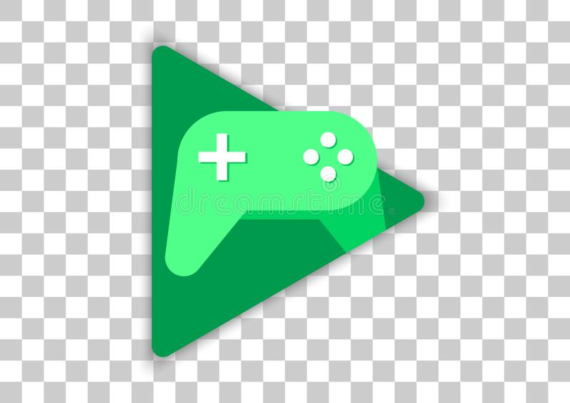 Google play games apk icon. Vector design of mobile app brand with trademark logo