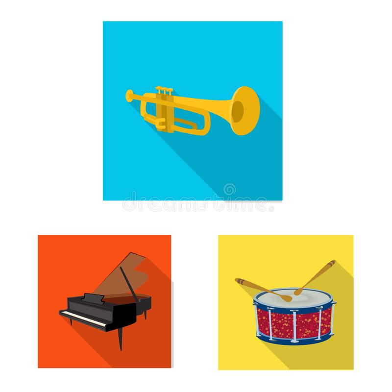 Vector design of music and tune icon. Set of music and tool stock vector illustration. Vector illustration of music and tune symbol. Collection of music and stock illustration
