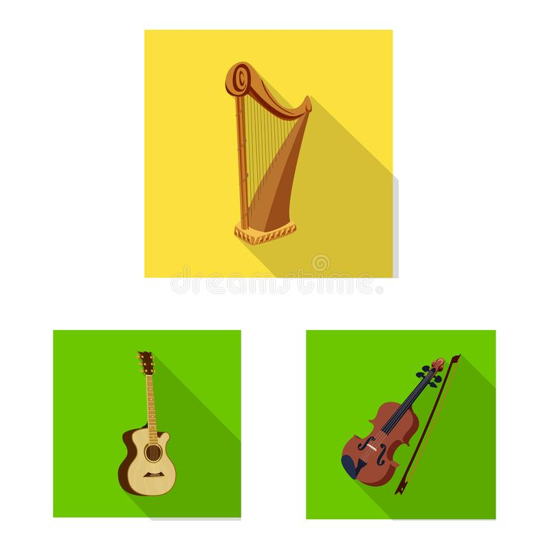 Vector design of music and tune logo. Set of music and tool vector icon for stock. Vector illustration of music and tune icon. Collection of music and tool royalty free illustration