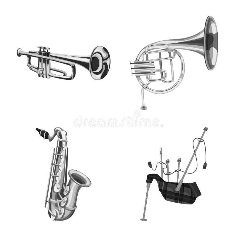Vector design of music and tune symbol. Collection of music and tool vector icon for stock. Vector illustration of music and tune sign. Set of music and tool vector illustration