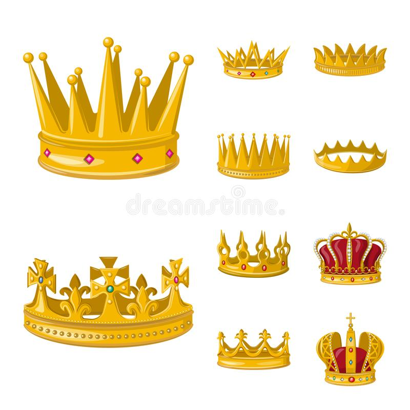 Free Vector Design Of Monarchy And Gold Icon. Collection Of Monarchy And Heraldic Stock Vector Illustration. Royalty Free Stock Photo - 145465025
