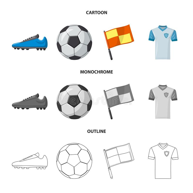 Free Vector Design Of Soccer And Gear Icon. Set Of Soccer And Tournament Stock Symbol For Web. Royalty Free Stock Images - 152299419
