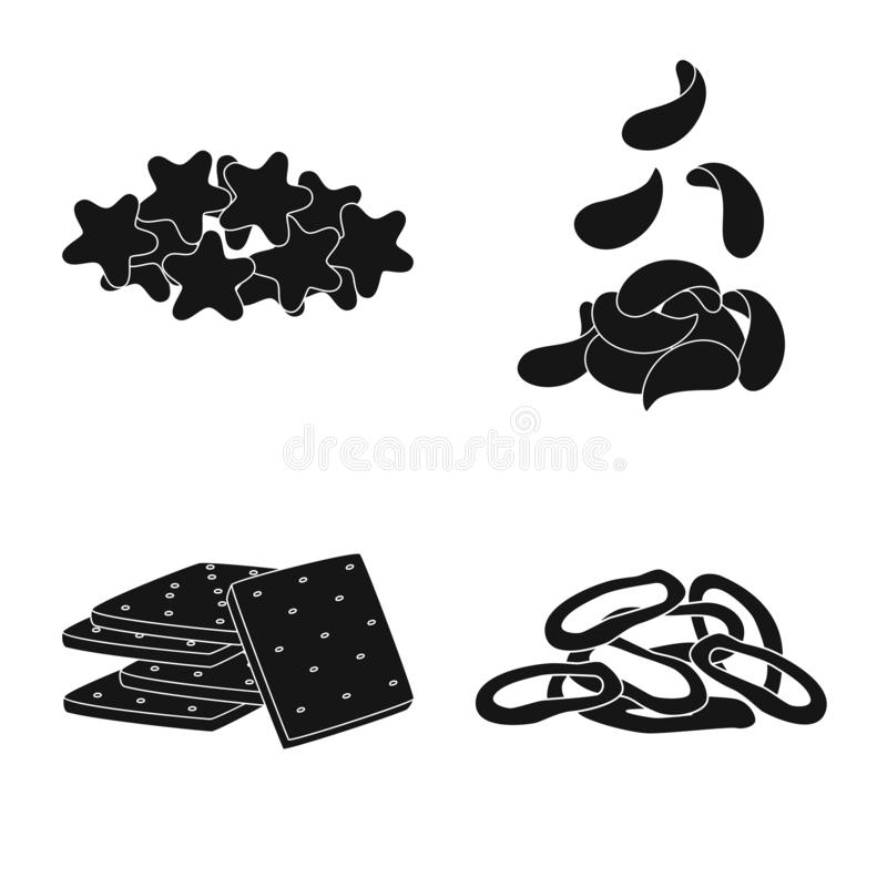 Isolated object of party and cooking symbol. Set of party and crunchy stock symbol for web. Vector design of party and cooking sign. Collection of party and vector illustration
