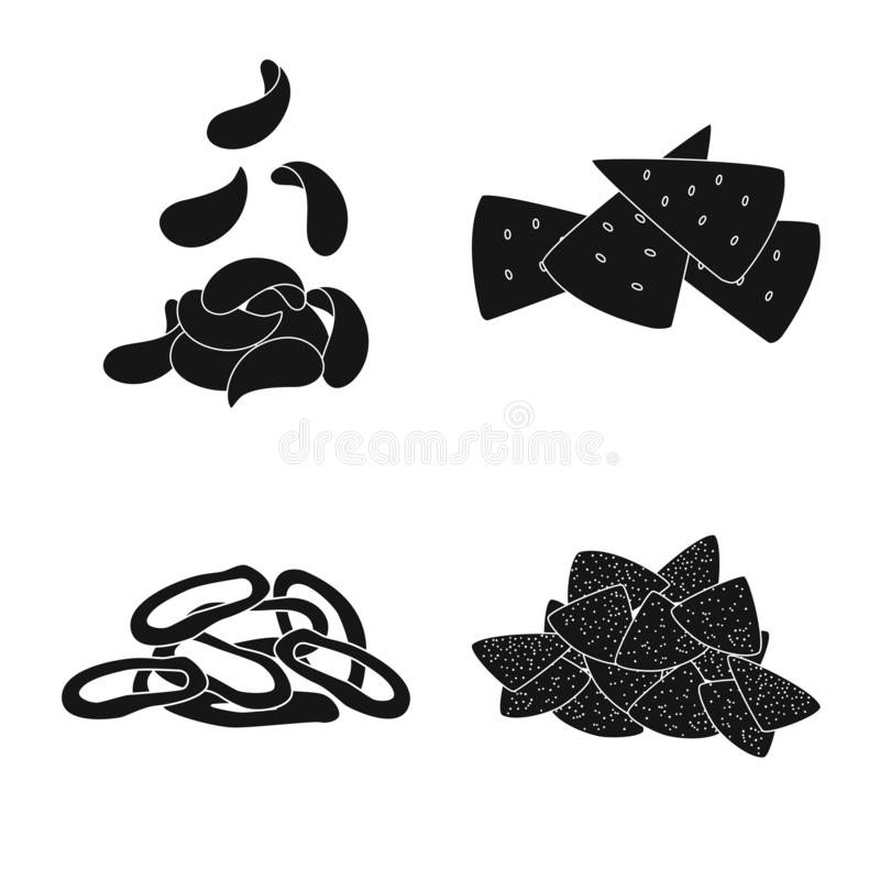 Isolated object of party and cooking symbol. Collection of party and crunchy vector icon for stock. Vector design of party and cooking sign. Set of party and vector illustration
