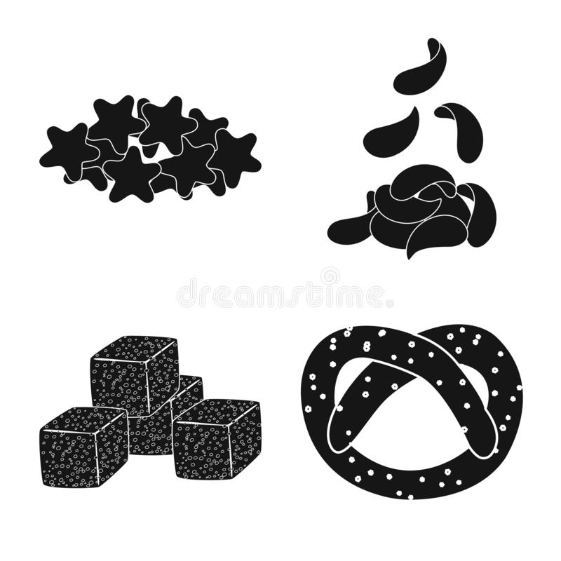 Isolated object of party and cooking icon. Set of party and crunchy stock vector illustration. Vector design of party and cooking symbol. Collection of party royalty free illustration